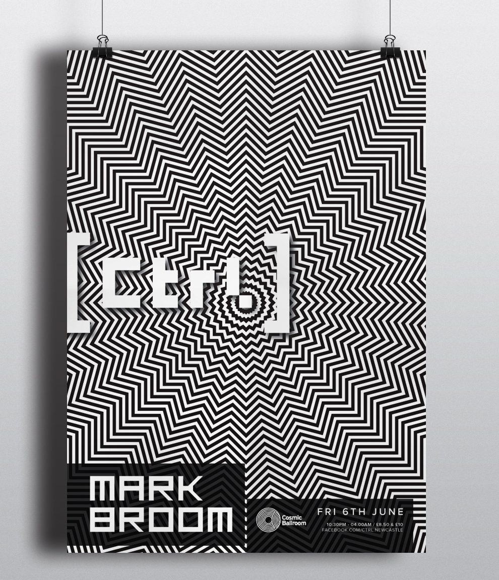 poster design advertisement for ctrl newcastle