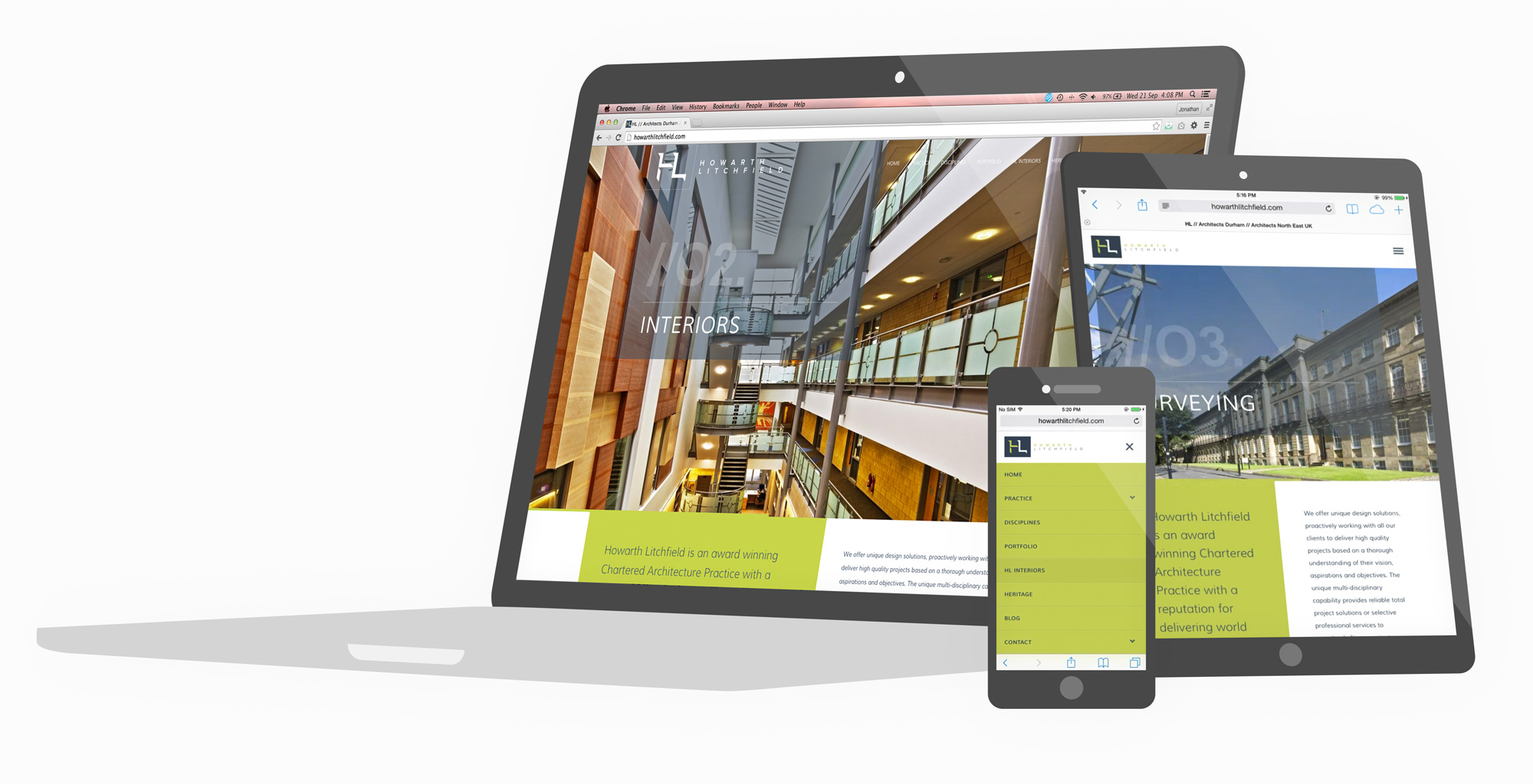 architects portfolio web design