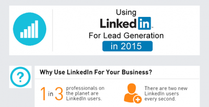Infographic – How to use LinkedIn for lead generation.